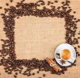 背景咖啡准备好的使用 库存图片