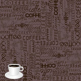 背景咖啡印刷术 免版税库存照片