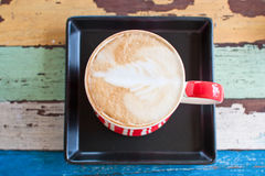 背景咖啡杯减速火箭的数据条 免版税图库摄影