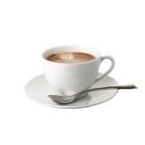 背景咖啡杯查出的白色 免版税库存照片