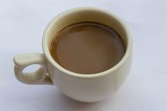 背景咖啡杯白色 免版税库存照片