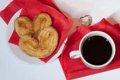 背景咖啡杯红色 免版税图库摄影