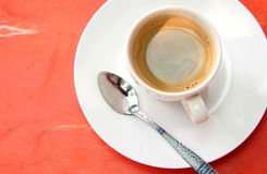 背景咖啡杯eps10桔子向量 图库摄影