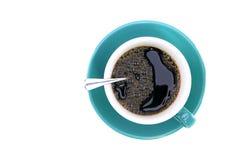 背景咖啡欢迎白色的我的投资组合 免版税库存照片