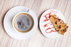 背景咖啡饼白色 库存照片