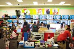 背景响铃拟订圣诞节赊帐节假日查出的红色购物闪耀的白色 图库摄影