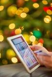 背景响铃拟订圣诞节赊帐节假日查出的红色购物闪耀的白色 免版税库存图片