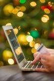 背景响铃拟订圣诞节赊帐节假日查出的红色购物闪耀的白色 免版税图库摄影