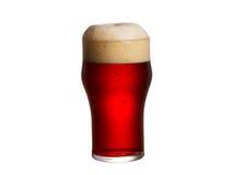 背景啤酒杯查出的白色 侥幸 免版税库存照片