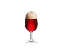 背景啤酒杯查出的白色 侥幸 免版税库存图片