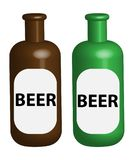 背景啤酒杯查出的白色 免版税库存照片