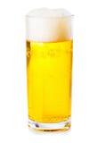 背景啤酒杯查出的白色 库存图片