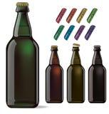 背景啤酒瓶例证桔子向量 免版税库存照片