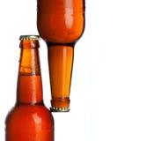 背景啤酒白色的关闭寒冷 库存图片