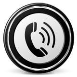 背景图标例证电话向量白色 免版税库存图片