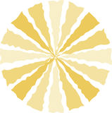 背景圆的黄色 免版税库存图片