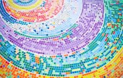 背景圈子五颜六色的马赛克 免版税库存图片