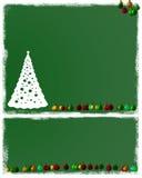 背景圣诞树 免版税库存图片
