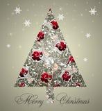 背景圣诞树 库存图片