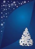 背景圣诞树 库存照片