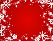 背景圣诞灯红色闪耀 皇族释放例证