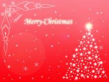 背景圣诞灯魔术红色 免版税库存图片
