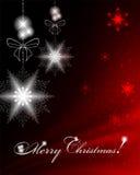 背景圣诞灯魔术红色 免版税库存照片