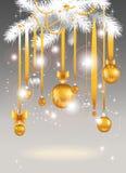 背景圣诞灯 免版税库存图片
