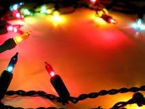 背景圣诞灯 库存照片