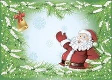 背景圣诞老人冬天 皇族释放例证