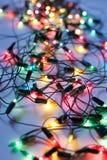 背景圣诞节五颜六色的光 图库摄影