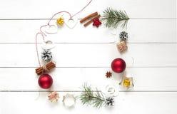 背景圣诞节例证查出的向量空白花圈 图库摄影