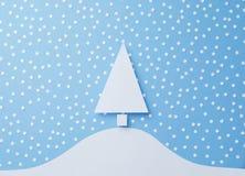 背景圣诞节例证纸张红色结构树 库存图片