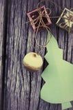 背景圣诞节例证纸张红色结构树 库存照片