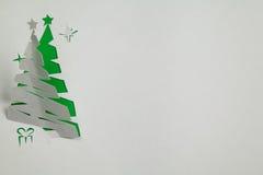 背景圣诞节例证纸张红色结构树 免版税图库摄影