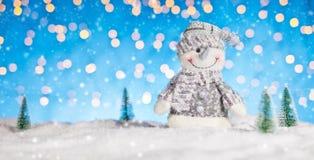 背景圣诞节例证雪人向量 免版税图库摄影