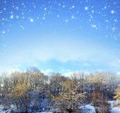 背景圣诞节例证雪结构树向量 免版税库存图片