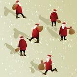 背景圣诞节克劳斯・圣诞老人 库存例证