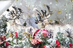 背景圣诞节克劳斯・圣诞老人 库存照片