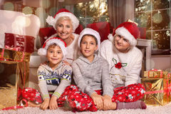 背景圣诞节关闭红色时间 愉快的系列 免版税图库摄影