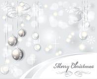 背景圣诞节典雅的光 免版税库存照片