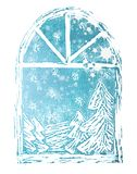 背景圣诞节剥落雪 图库摄影
