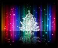 背景圣诞节发光的向量 免版税库存图片