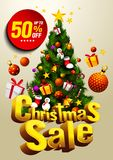 背景圣诞节女孩愉快的销售额购物白色 皇族释放例证
