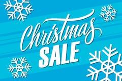 背景圣诞节女孩愉快的销售额购物白色 与手写的元素的特价优待横幅 免版税库存图片