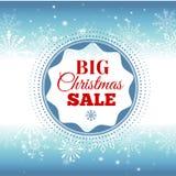 背景圣诞节女孩愉快的销售额购物白色 与雪花和发光的火花的传染媒介背景 荒地 登记 库存例证
