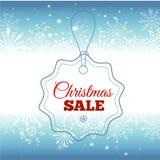 背景圣诞节女孩愉快的销售额购物白色 与雪花和发光的火花的传染媒介背景 荒地 登记 皇族释放例证