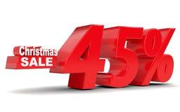 背景圣诞节女孩愉快的销售额购物白色 折扣百分之四十五 免版税库存照片