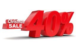 背景圣诞节女孩愉快的销售额购物白色 折扣百分之四十 免版税库存图片