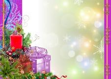 背景圣诞节新年度 库存图片